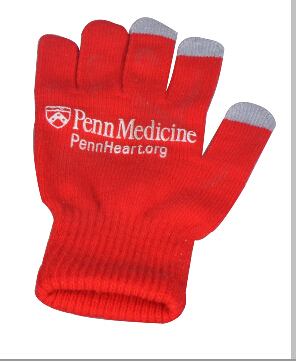 Red color Touch Screen Glove