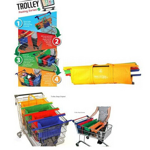 4 in 1 Grocery Cart Shopping Trolley Bags