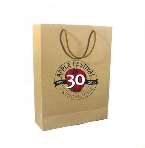 Brown paper bags with customized printing