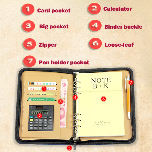 Business Notebooks with Calculator