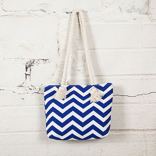 Chevron Printing Canvas Tote Handbag