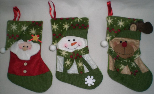 Christmas stockings decorated