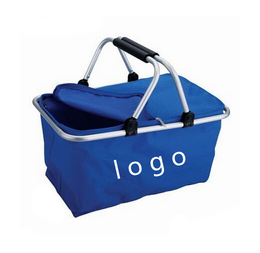 Collapsible Foldable picnic insulated basket for outdoor act