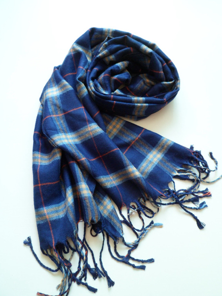 Custom Plaid Fringe Scarf