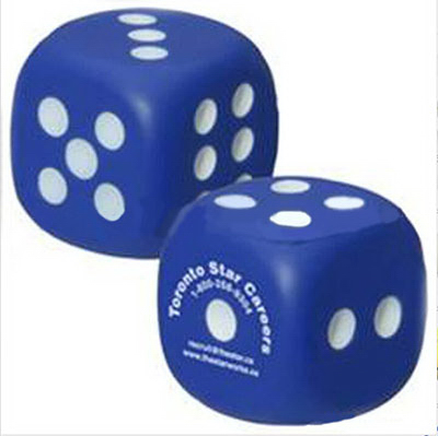 Dice shaped  stress reliever