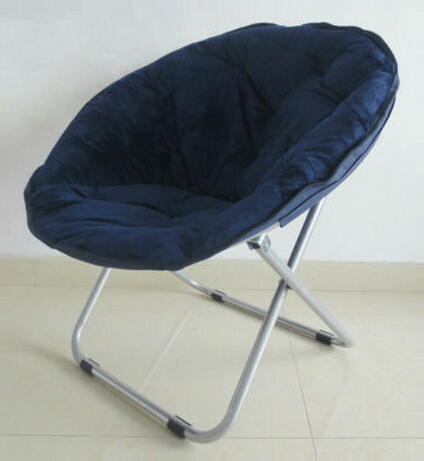 Foldable moon-shaped chair