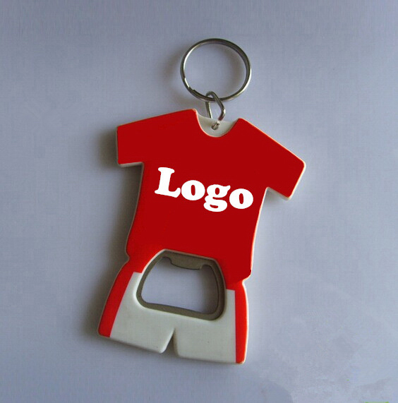 Jersey plastic bottle opener stylish opener with keyring