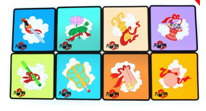 New PVC Cartoon creative Square coasters