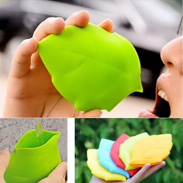 Portable Silicone Leaf Shape Pocket Cup