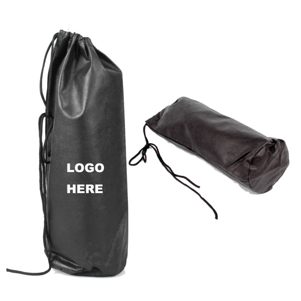 Promotional Single Wine Bottle Drawstring Bag