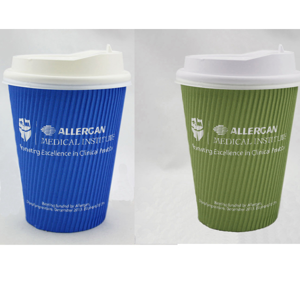 Ripple Paper Cup, Corrugated Paper Cup with Lid