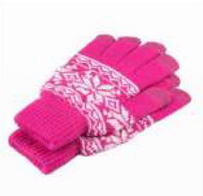 Snowflake Jacquard Touch Gloves