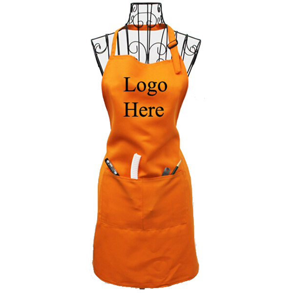 Terylene Cotton Apron With 2 Pockets