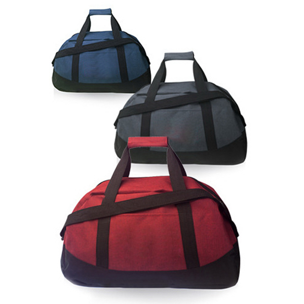 Two Tone Duffel Bag With Velcro Handle