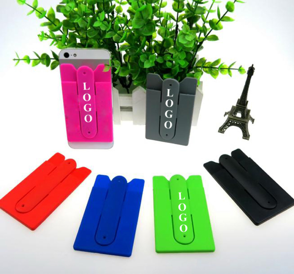 U Shape Silicone Phone Holder With Wallet