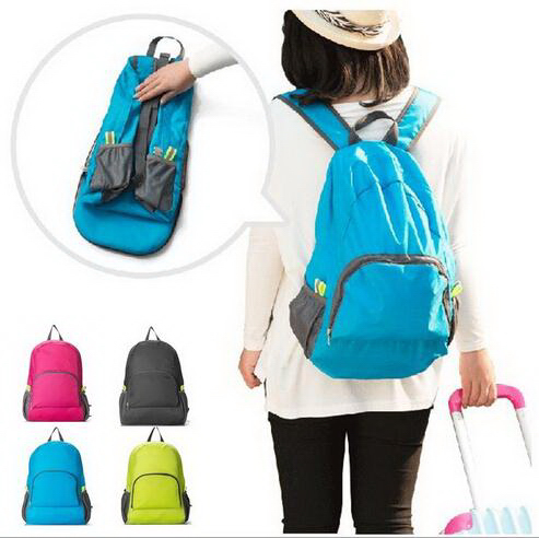 Wholesale candy colors cheap foldable backpack