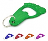 Foot Shaped Bottle Opener With Keychain
