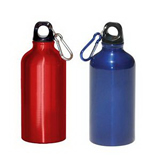 13 Oz. Aluminum Water Bottle W/Carabiner