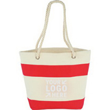 16oz Cotton Stripe Tote