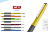 2016 New design of ball pens colorful balls with white clips