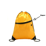 210D Drawstring Bag With Front Zipper