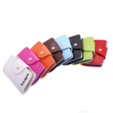 24 Slots PU Business Card/Bank Card Foldable Holder