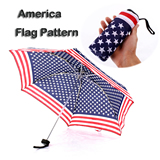36 Inch America Flag Folding Umbrella