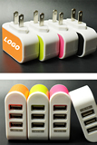 5V 3.1A Candy 3 USB Charger for Mobile Phone, 3 USB Phone Ch