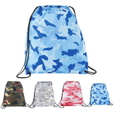 600D Camo Drawstring Backpack