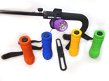 9 LED plastic torch and silicon holder