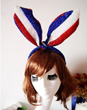 American Flag Pointed Star Rabbit Bunny Ear Headband