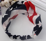 American Flag Stars Stripes 4th Of July Stretch Headband