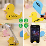Animal-Shaped Cute Wooden Phone Holder Mobile Stand Base