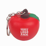 Apple Shaped Stress Reliever Key Chain