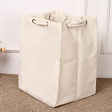 Canvas Laundry Basket Drawstring Portable Storage Bag