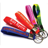 Color Aluminum Silica Gel Hand Ring Key Chain