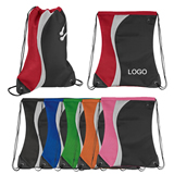 Color Splash Mesh Sports Drawstring Pack