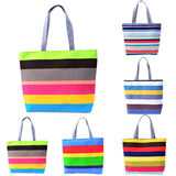 Colorful Canvas Beach Tote