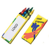 Crayon Pack (4 Count), Promotional Crayons,Crayon Giveaways