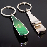 Custom Bottle Shape Metal Opener Keychain