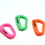 D-Shaped Carabiner Key Chain with LED Flight Key Ring