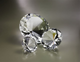 Diamond Shaped Crystal Paperweight
