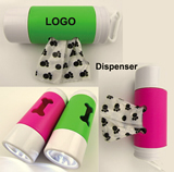 Dog bag dispenser with flashlight