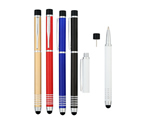 Dual Cap Off Aluminum Ballpoint Pen & Highlighter