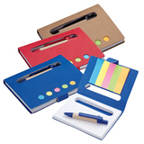 Eco Mini Notebook with Pen & Flags