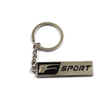 Europe Style Car Pendant Key Chain with Black Letter F