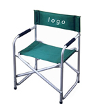 Foldable steel and aluminum director's chair
