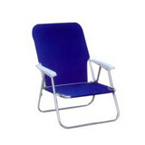 Folding aluminum deck chair for kids with armrest