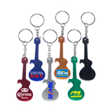 Guitar shape bottle opener keychain