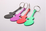 Guitar shape keychain bottle opener